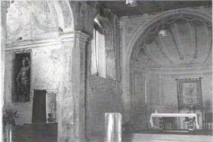 Interno antica chiesa di San Giorgio in Montanaso