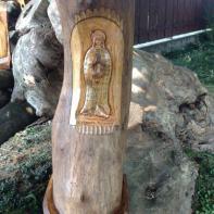 """Madonna di Arcagna diAdriano Zaniboni """"Zanibon intagliatore per passion"""""""